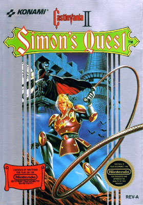 Castlevania II Simon's Quest cover box art