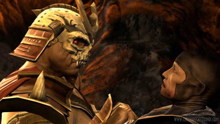 shao kahn raiden fighting mortal kombat