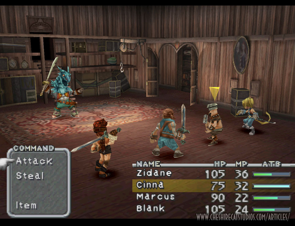 Final Fantasy IX running in HD from the original PSX disc (click on images to enlarge)