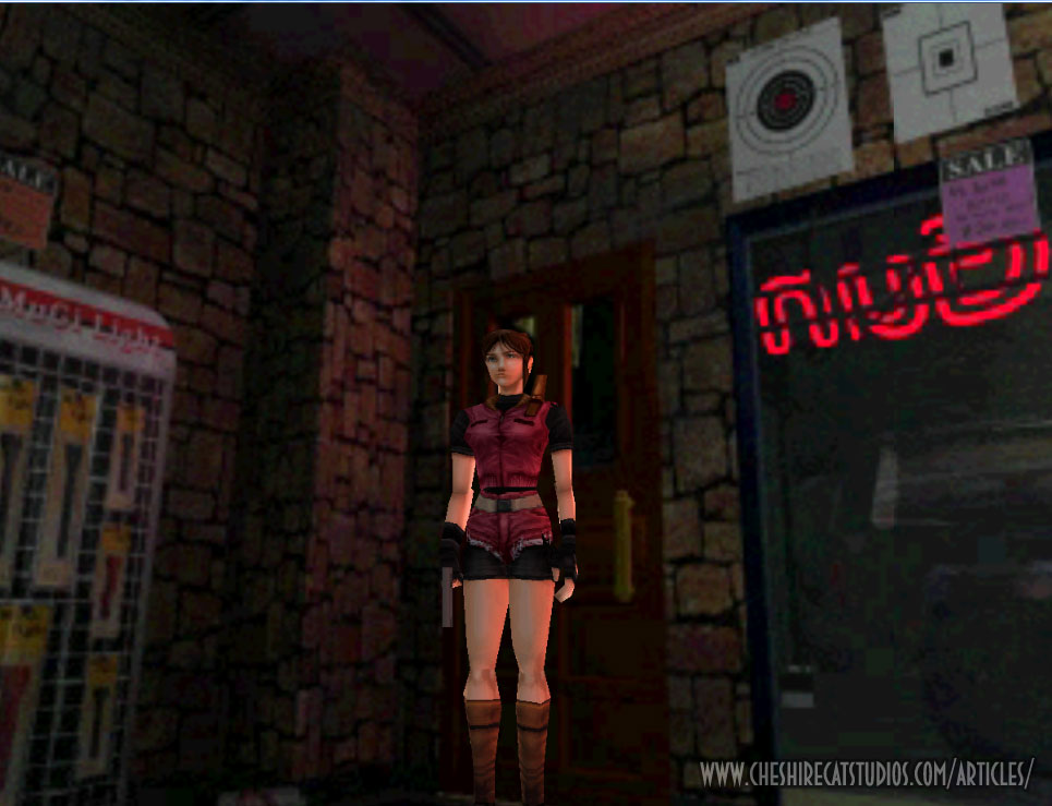 Resident Evil 2 running in HD from the original PSX disc