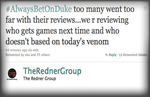 The Redner Group Duke Nukem Forever review