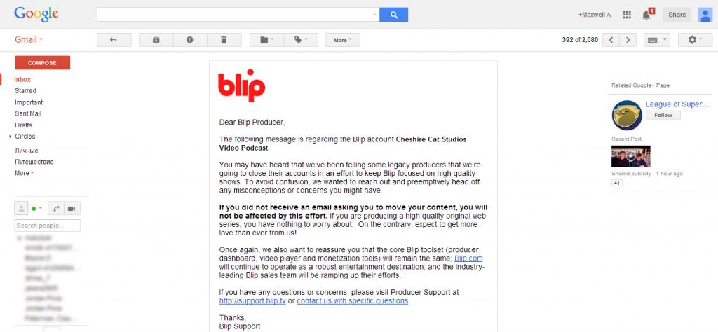 Blip E-Mail