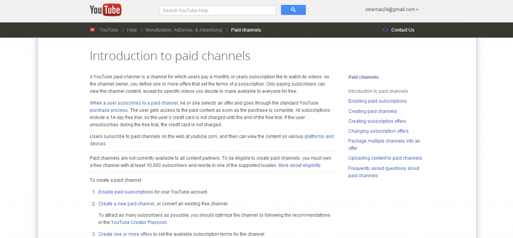 YouTube Paid Channels 2