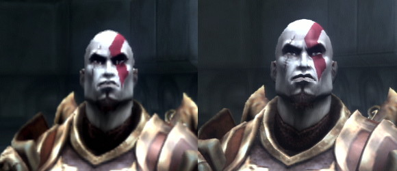 god of war collection hd comparison